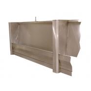600mm Ullswater Stainless Steel Floor standing Slab Urinal Trough