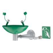 Wall-mounted eye wash station