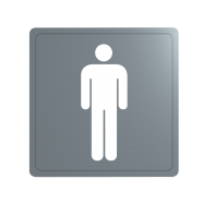 Stainless steel WC sign (Male)