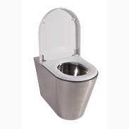 Aruba 2 Stainless Steel anti-vandal back to wall Toilet WC pan