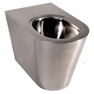 Berlin 2 Stainless Steel anti-vandal back to wall Toilet WC pan