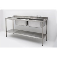 Double Bowl Single Drainer Sink complete with Stand
