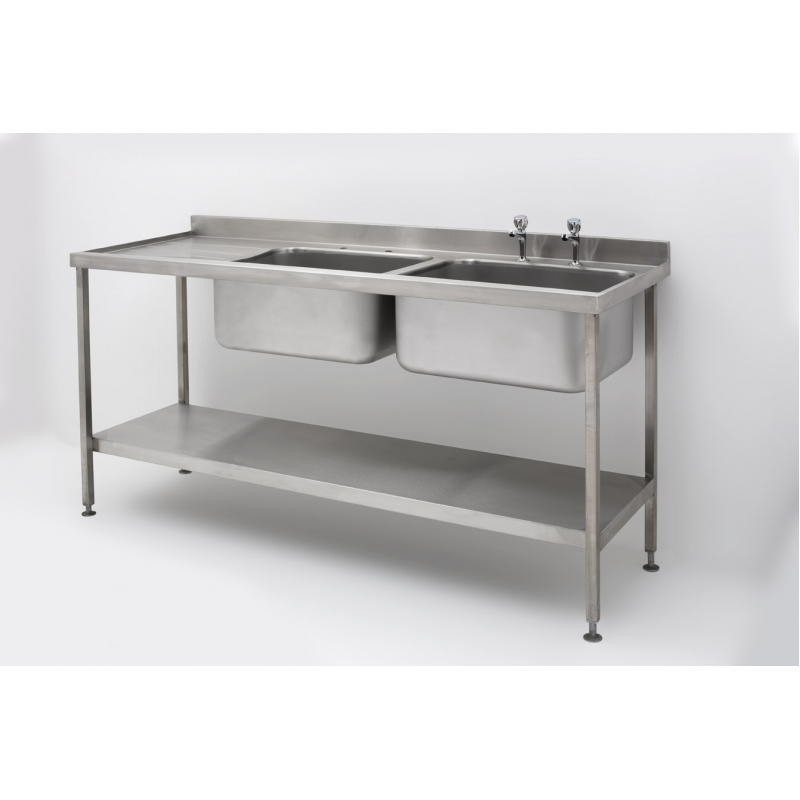 Superieur Double Bowl Single Drainer Sink Complete With Stand U2026