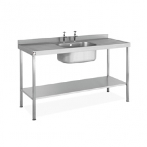 Single Bowl Double Drainer Sink complete with Stand