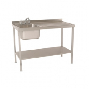 Single Bowl Single Drainer Sink complete with Stand