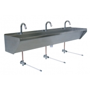 Stainless Steel  Wash Trough Ontario Tap Landing
