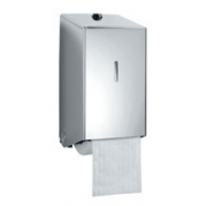 2 Roll Stainless Steel Toilet Roll holder (Brushed Satin Finish)